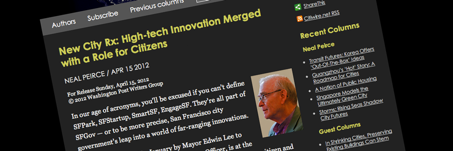 Neal Peirce reports on Jay Nath, SFGov and Meeting of the Minds