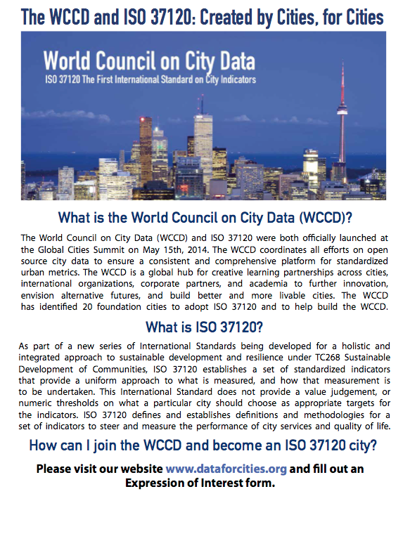 World Council on City Data Brochure