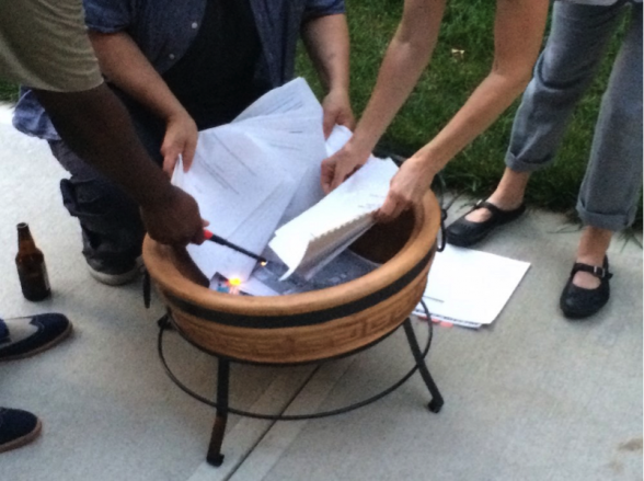 Residents Burn Old Neighborhood Plans in Kansas City in 2015 Source: Jason Parson