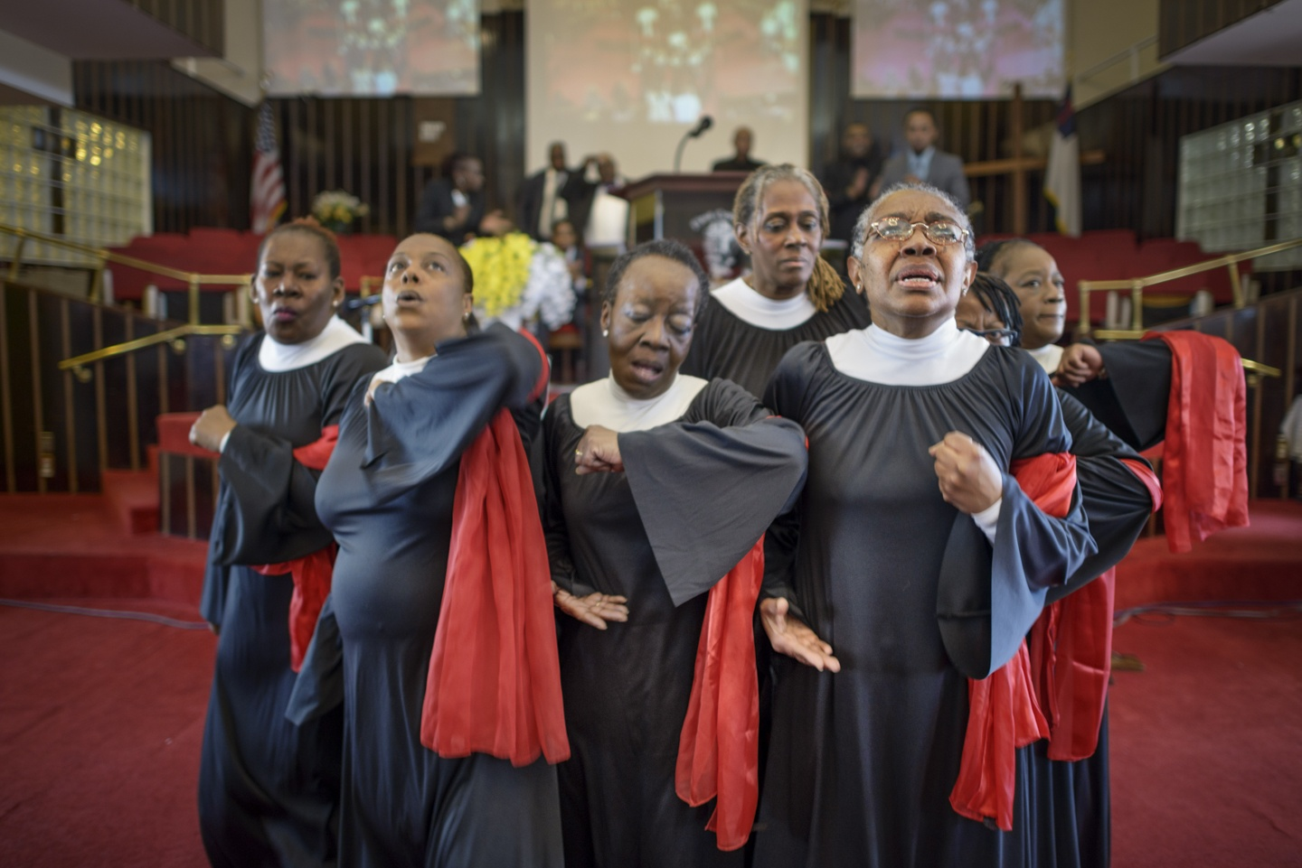 Church members perform at the First Baptist Church in Stapleton, nearby Tompkinsville, Staten Island, NY. Photo courtesy of Gareth Smit, Future Culture Photo Urbanism Fellow, Design Trust for Public Space